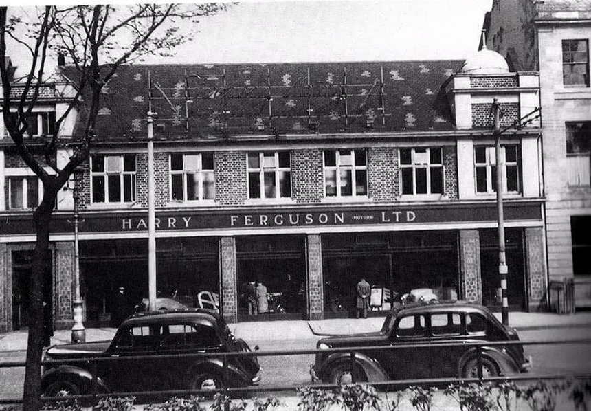 Harry Ferguson\'s Car Showroom Donegall Square 1940s - George Best Hotel
